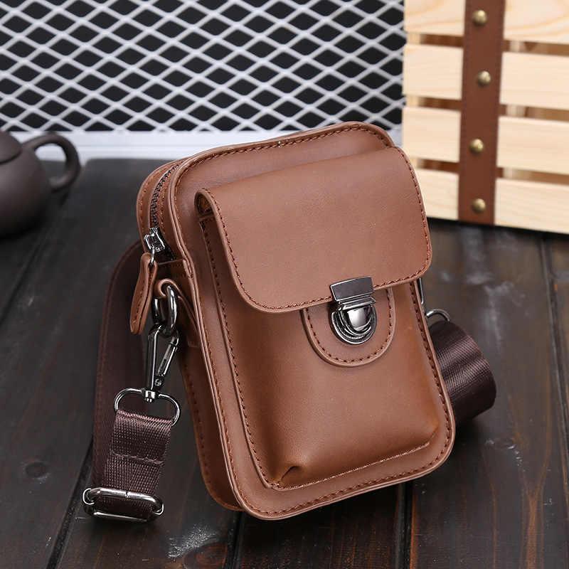 2018 sıcak satış erkek postacı çantası çılgın at deri çantalar Ünlü marka erkekler moda rahat omuz çantaları göğüs çanta