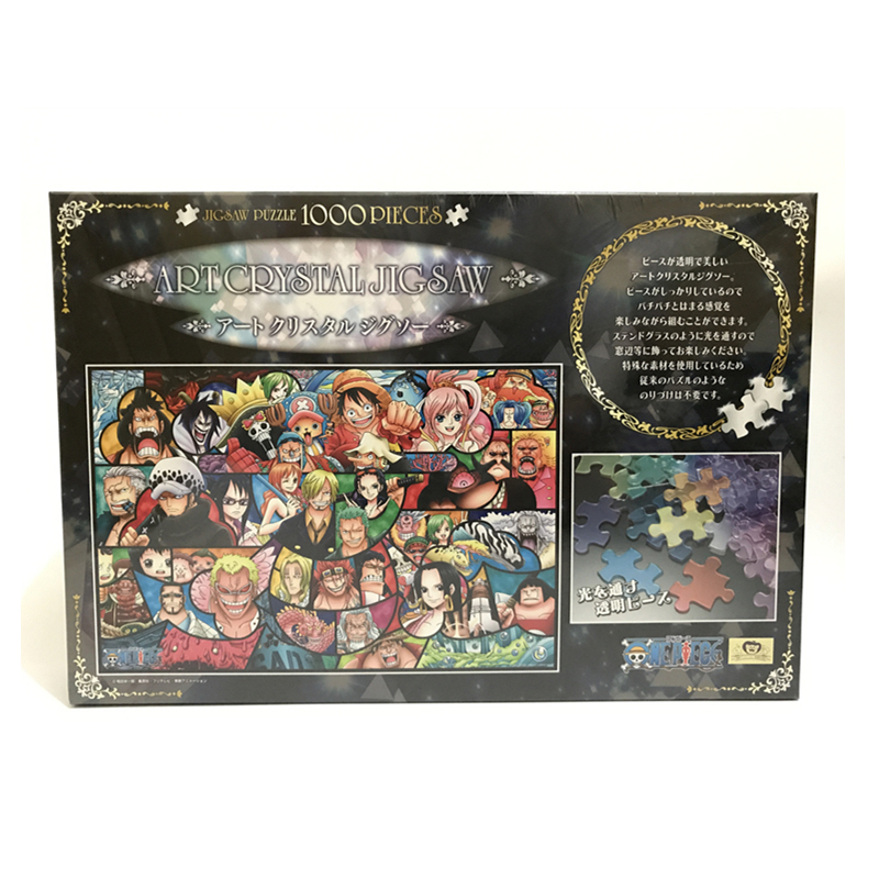 ONE PIECE Jigsaw Transparent puzzle Original Japan 1000 Pieces Children Puzzle Toy Gift virgo the wooden puzzle 1000 pieces ersion jigsaw puzzle white card adult heart disease mental relax 12 constellation toys