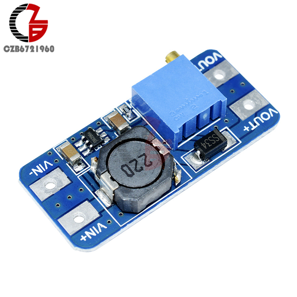 5Pcs MT3608 DC-DC Step Up Power Supply Module Booster Step-up Voltage Power Converter Board DIY 5V 12V 24V for Arduino