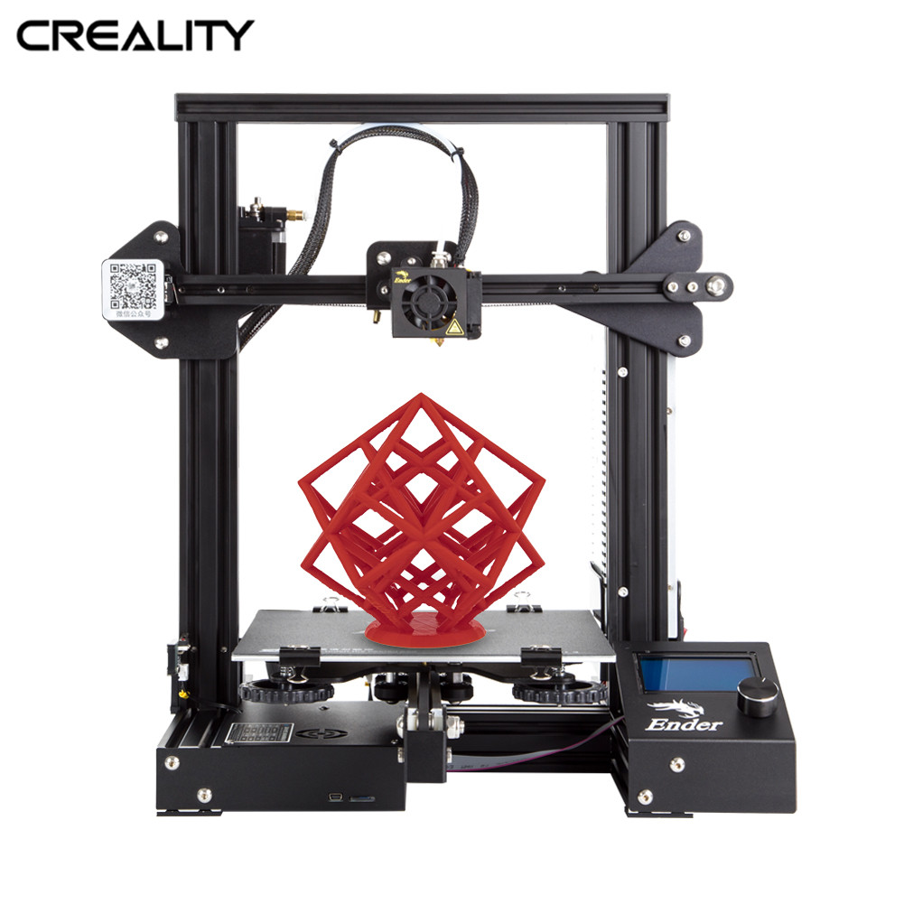 Full Metal CRIATIVIDADE 3D Ender-3/Ender-3X/Ender-3 Pro Impressora Com a Magia de Construção Placa de Atualização Visão V-slot 3D Impressora