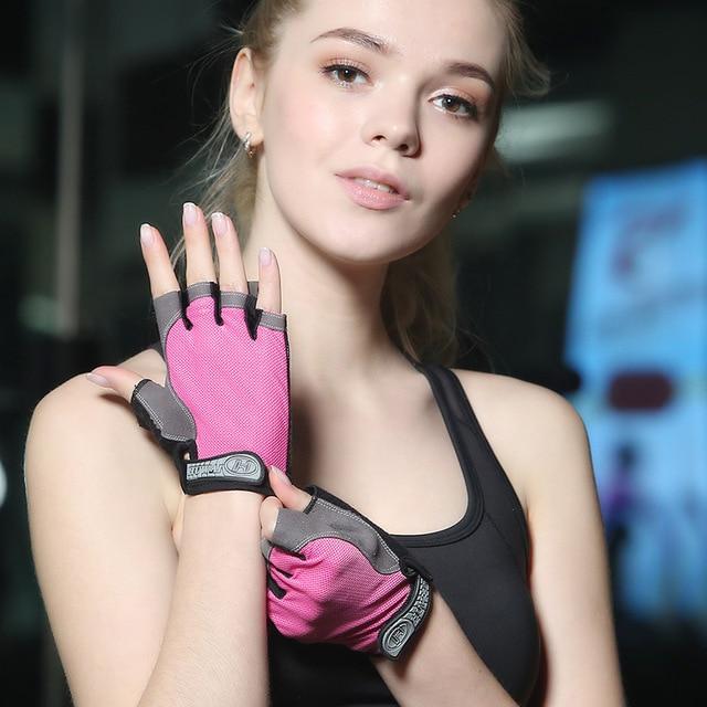 קיץ גברים/נשים כושר כפפות חדר כושר הרמת משקולות רכיבה על yoga אימון פיתוח גוף דק לנשימה החלקה חצי אצבע כפפות