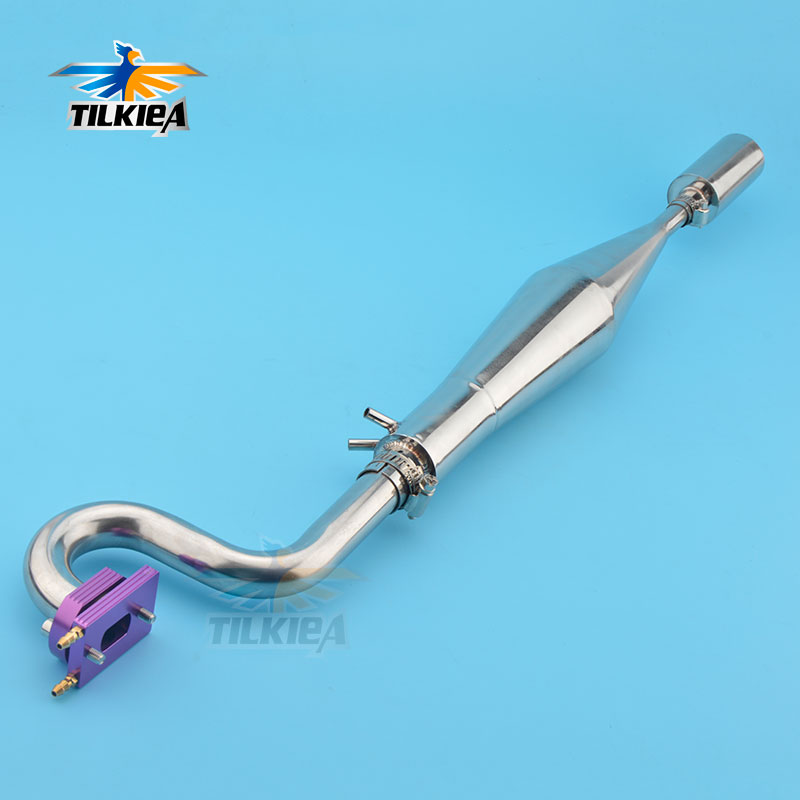 Steel exhaust pipe for rc boat zenoah engine
