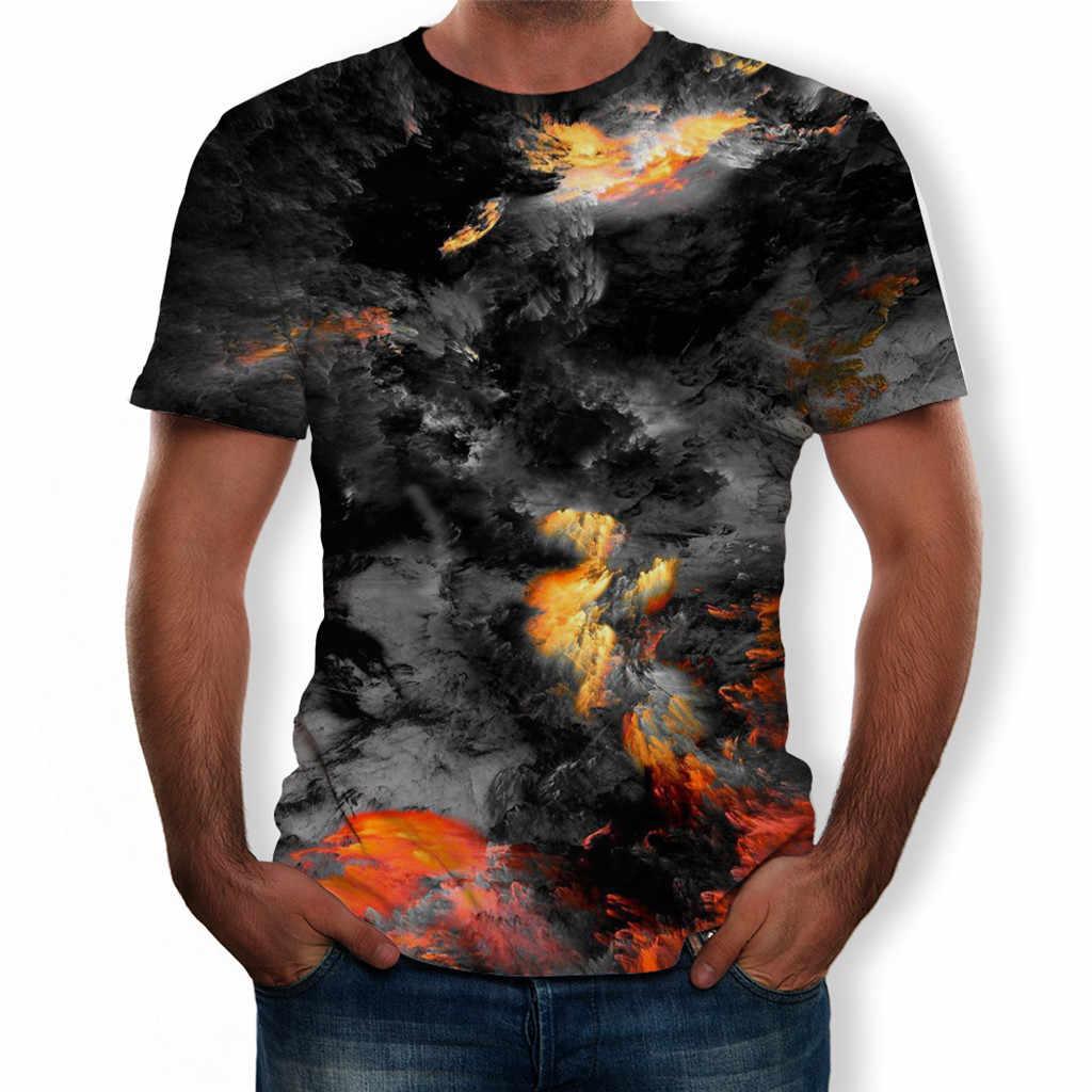 Feitong 男性の tシャツ camiseta 夏新 3D プリント半袖シャツ男性ストリート快適トップメンズ tシャツファッション 2019 WW