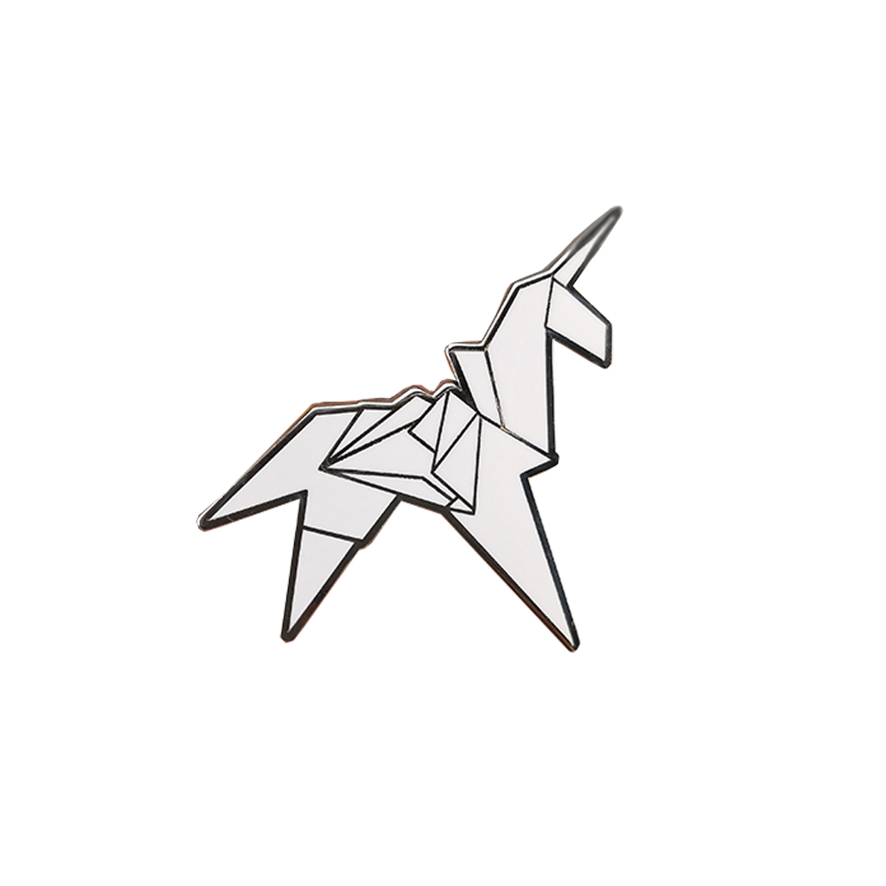 Origami Unicorn Blade Runner Pin Badge In Pins Badges From Home
