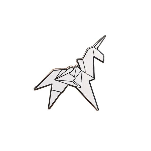 Origami Unicorn Blade runner Pin Badge
