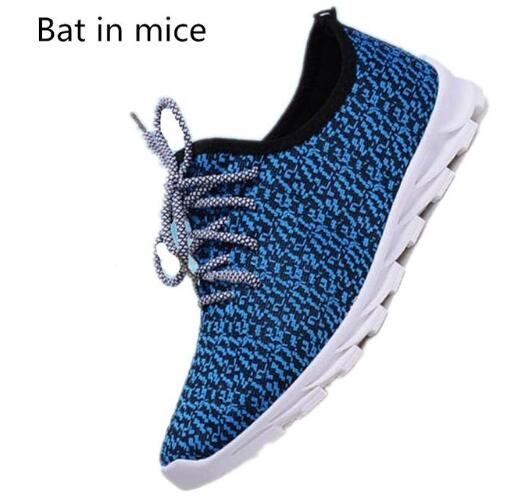 Bat in mice Casual Shoes Breathable Lace-Up Walking Shoes Spring Lightweight Comfortable Walking Men Shoes Black Plus Size high quality men casual shoes fashion lace up air mesh shoe men s 2017 autumn design breathable lightweight walking shoes e62