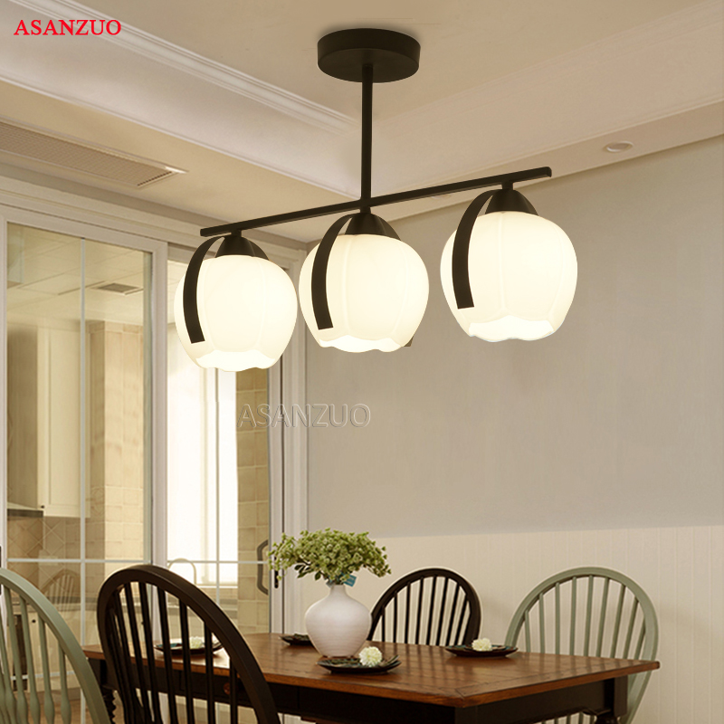 American country ceiling light Creative glass living room ceiling lamp Iron small living room dining room Fixtures