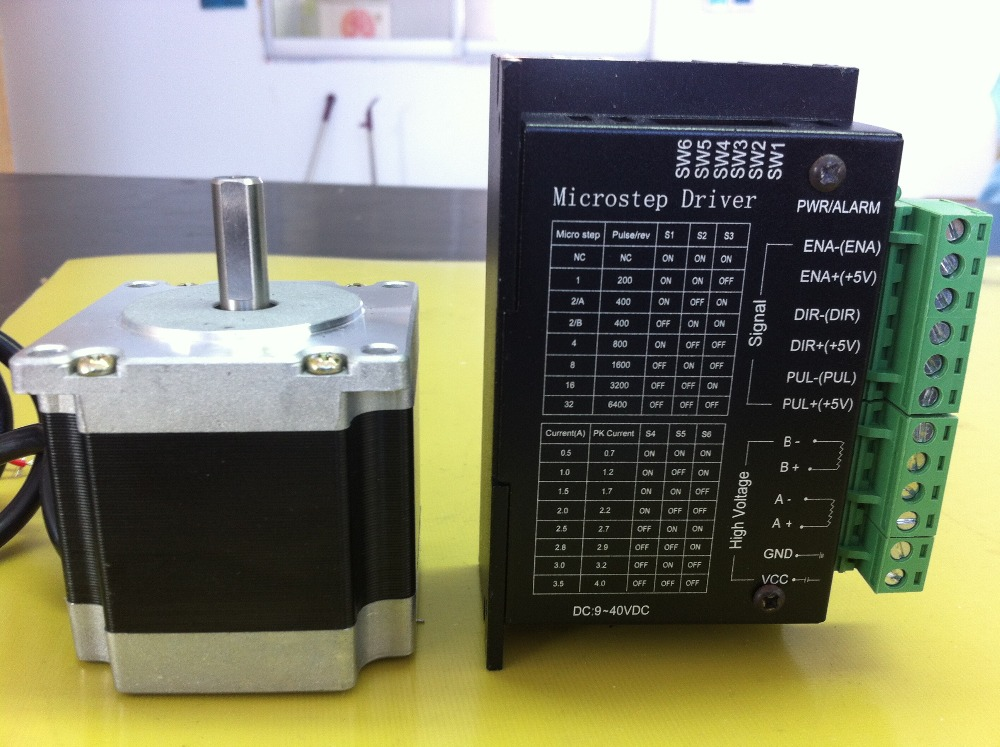 57 stepper motor set 57BYGH207/ drive 4A 32 subdivision torque 1.2N.M body length 56MM57 stepper motor set 57BYGH207/ drive 4A 32 subdivision torque 1.2N.M body length 56MM