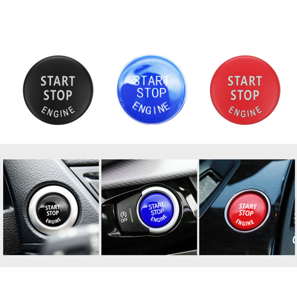 Car Engine START STOP Button Replace Switch Cover Accessories Key Decor for  BMW X1 X5 E70 X6 E71 Z4 E89 3 5 Series E90 E91 E60