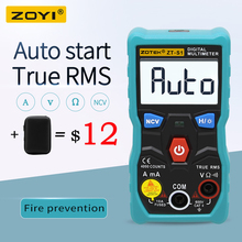 ZOYI ZT S1 เครื่องทดสอบมัลติมิเตอร์แบบดิจิตอล autoranging True RMS automotriz Mmultimetro NCV LCD Backlight + ไฟฉายเช่น RM403B