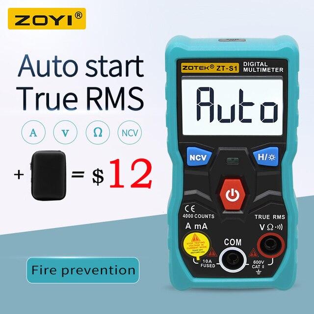 ZOYI ZT S1 جهاز إختبار مالتيميتر رقمى autoranging صحيح rms autootriz Mmultimetro مع NCV LCD الخلفية + مصباح يدوي مثل RM403B