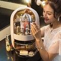Прозрачный косметический Органайзер  креативная коробка для хранения макияжа  переносной настольный органайзер  ящики для хранения  водон...