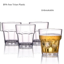 250ml unbreakable beer plastic glass cups tritan BPA free wine juice mug 340ml tumbler