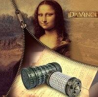 Leonardo da Vinci juguetes educativos metal CRYPTEX cerraduras ideas de regalo vacaciones Navidad regalo casarse amante escapar Cámara Accesorios