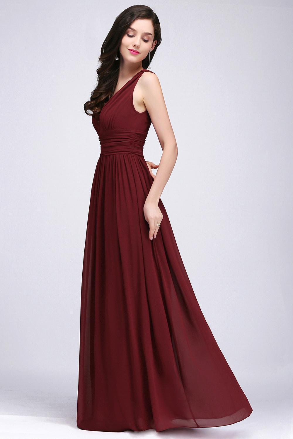 Online shop robe demoiselle dhonneur a line burgundy chiffon online shop robe demoiselle dhonneur a line burgundy chiffon bridesmaid dresses long 2017 sexy v neck prom dresses party gown aliexpress mobile ombrellifo Gallery