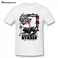 T Shirt Men White Roller Skate Events Printed Men S T Shirt Short Sleeve O Neck