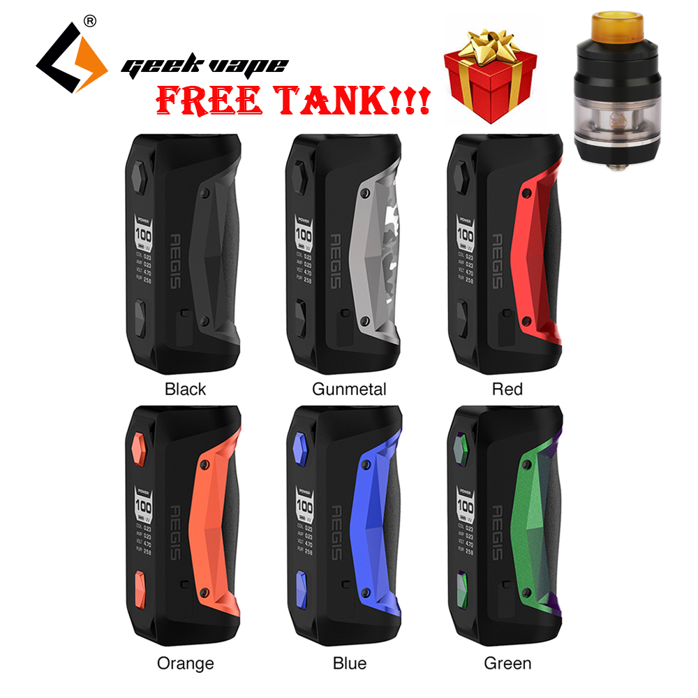 Free Tank 100W Geekvape Aegis Solo MOD W Latest AS Chipset Electronic Cigarette Vape Box