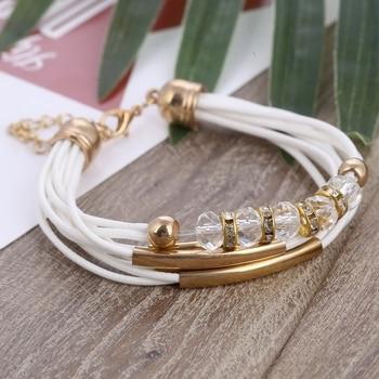 Bracelet Wholesale Jewelry Leather Bracelet for Women Bangle Europe Beads Charms 4