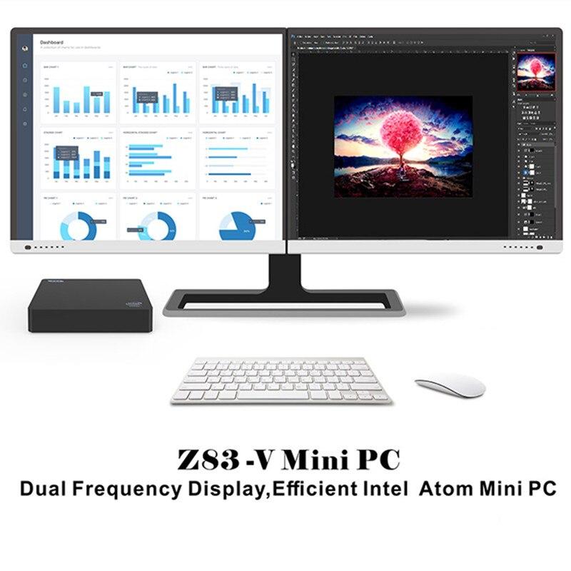 Z83 V Mini PC Intel Atom X5 Z8350 Intel HD Graphics 400 2 4GHz+5 8GHz WiFi  1000Mbps USB3 0 BT4 0 Windows 10