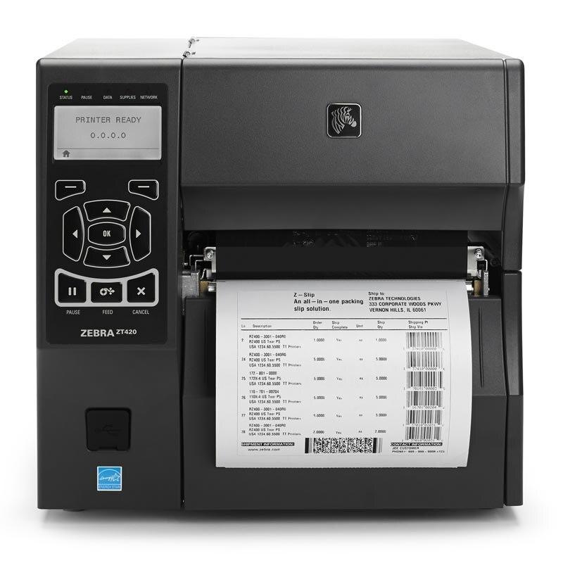 Original Brand New ZEBRA ZT420 Desktop Thermal Transfer And Direct Thermal Modes  Barcode Printer 203dpi Barcode Printer