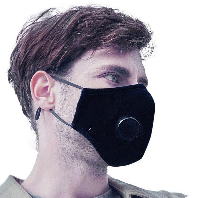 Anti-Neblina Máscara Outono Inverno Ciclismo Máscaras Unisex PM 2.5 Rosto  Boca Máscara Tampa À 32c772a08a