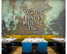 beibehang 3d wallpaper Europe and the United States retro industrial wind bar coffee shop background wall papel de parede