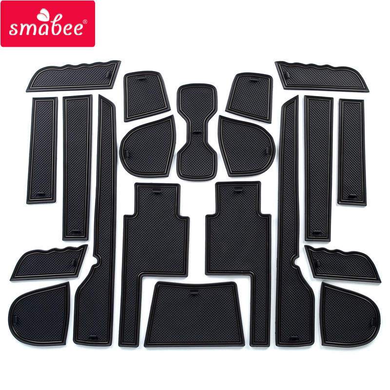 Fish 16pcs//set Interior Door Groove Pad Cup Holder Slot Mat Non-Slip Cushion Replacement For Hyundai Ix35 2009-2015