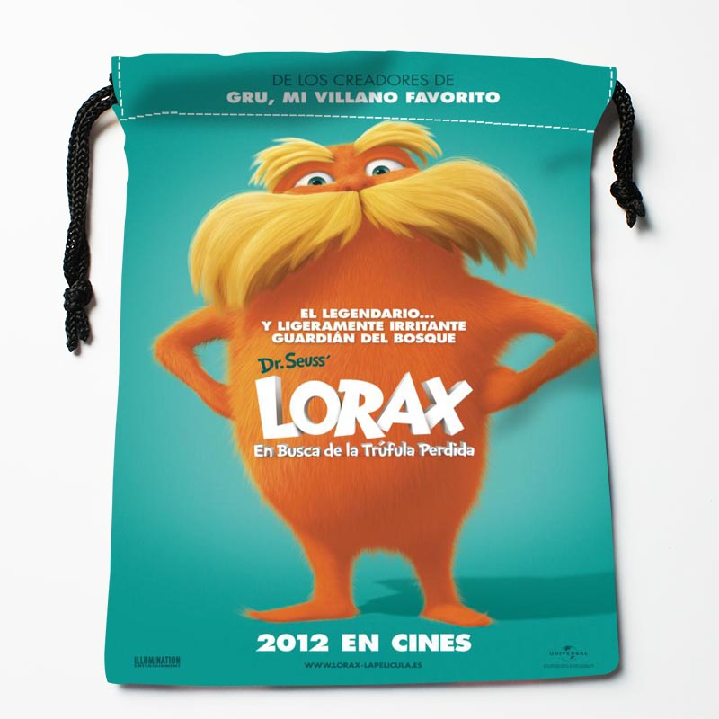 Custom The Lorax Drawstring Bags Custom Storage Bags Storage Printed Gift Bags More Size 27x35cm Compression Type Bags