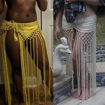 Gypsy, crochet, tassel skirt, with long fringe. Taken from an original pattern the seventys. Festival clothing. Boho skirt