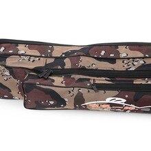 Camouflage Two-Layer Nylon Fishing Bag Multi-Purpose Large Capacity 1.2M Double Layer Fishing Rod Tackle Bag Fishing Equipment