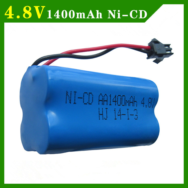 4.8v 1400mah ni-cd battery nicd aa 4.8v rechargeable battery pack 1.2v 1500mah batteries not nimh for cars 4.8v RC boat toy