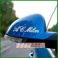 Carro adesivos refletivos AC Milan adesivos de espelho retrovisor para Volvo Polo Kia Toyota Opel Astra Mazda Cx-5 de Citroen C4