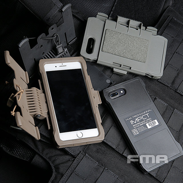 New Arrival Military FMA Molle Tactical Plus Mobile Pouch Outdoor Hunting Equipment Paintball Shell Phone Case Iphone 7/8 Plus