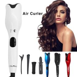 Lokówki automatyczna lokówka LCD cyfrowy wyświetlacz różdżka ceramiczna obrotowa lokówka do włosów narzędzia do stylizacji włosów pielęgnacja włosów