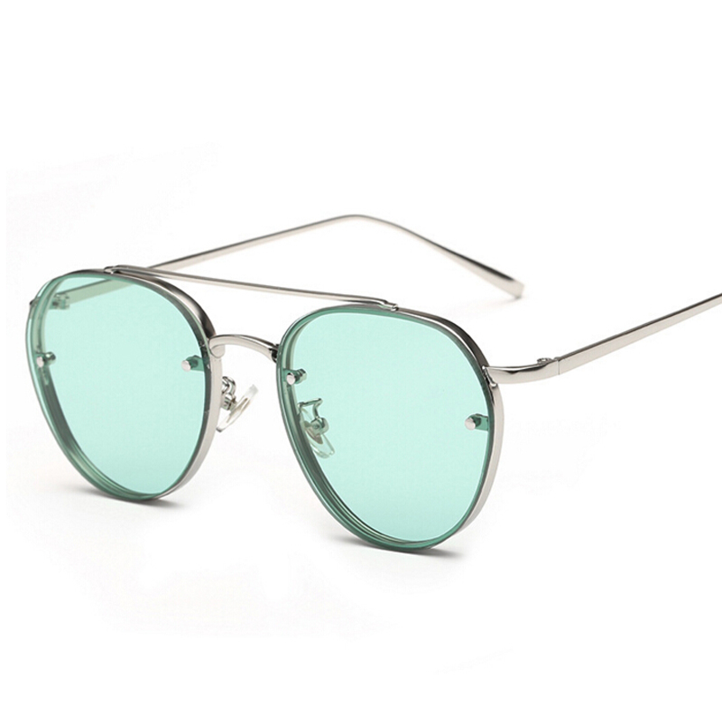 Peekaboo Nyaste gulgröna rosa havsolglasögon kvinnor mode sommar - Kläder tillbehör - Foto 2