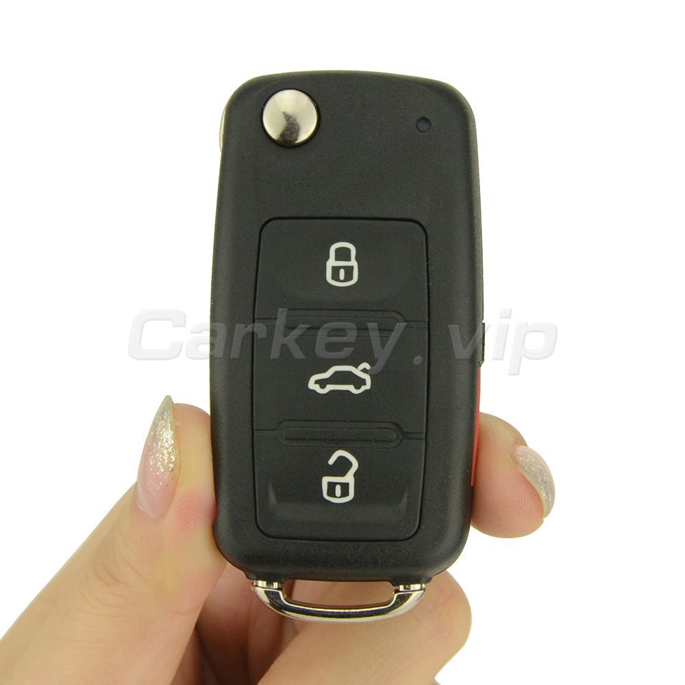 Remotekey 5K0837202R 3 button with panic 315Mhz Flip car remote key for VW Volkswagen Beetle Passat Jetta Tiguan GTI Touareg
