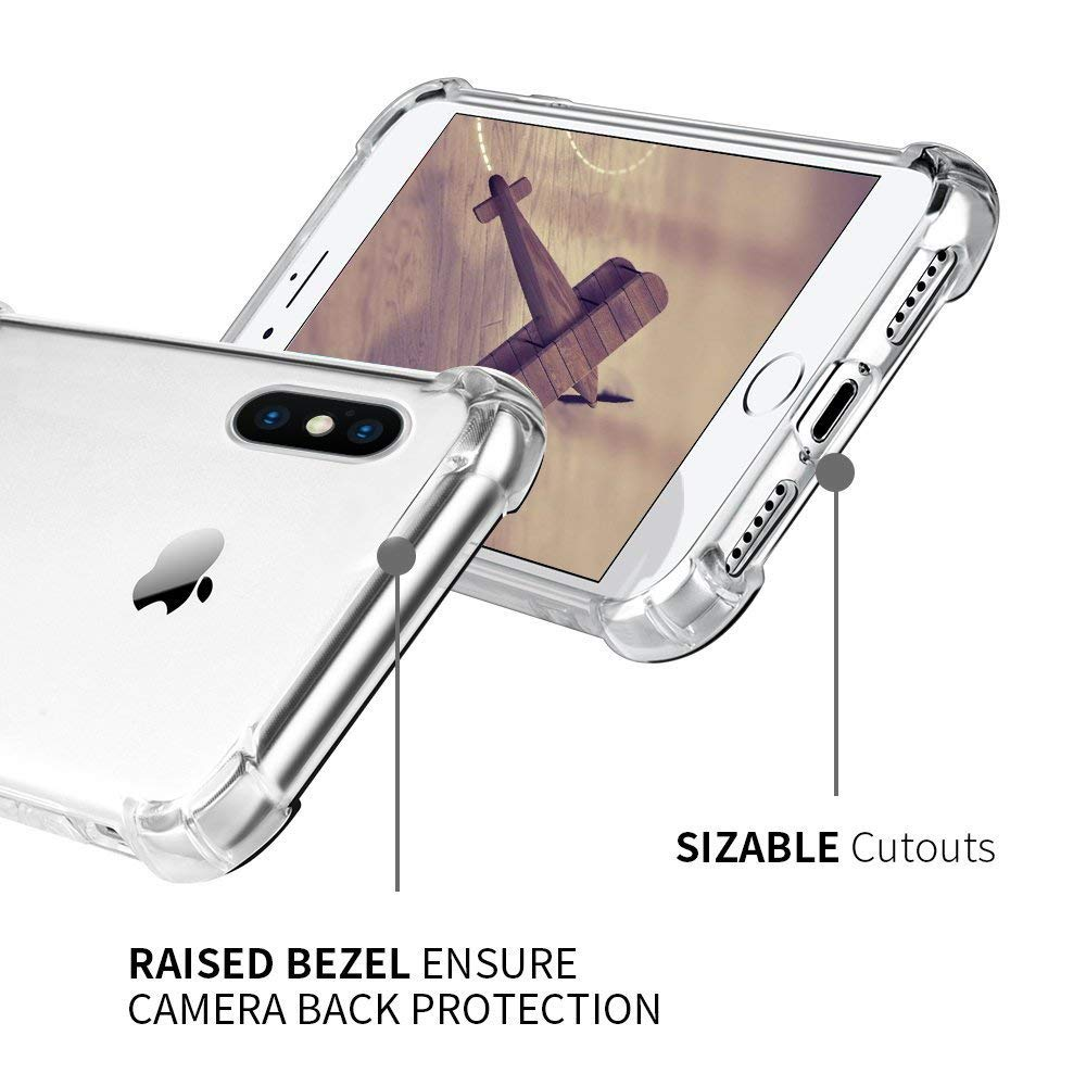 Suntaiho Super Shockproof Clear Soft Case for iPhone Xs Max 6 s 6S 7 8 Plus 6Plus 6SPlus Silicon Luxury Cell Phone Back Cover