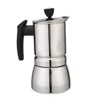 AMYAMY Stainless Steel Moka Stovetop Espresso Coffee Maker 200 ML 4 Cup Latte Percolator Stove Espresso Maker Pot фото