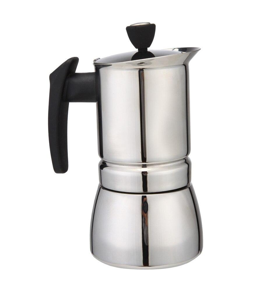 100 ml 2 tazas de acero inoxidable percolator estufa superior cafetera herramienta