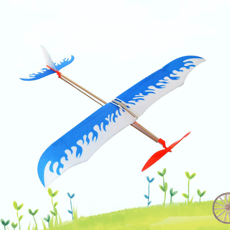 DIY Rubber Band Airplane Paper Jet Glider Handmade Kids Toy Creative Machine Science Model Craft Toys For Childrern