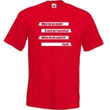 A Cure For Tourettes Mens T Shirt Funny Joke Offensive Content Rude S-3XL F Top Tee 100% Cotton Humor Men Crewneck Tee Shirts ferrari unisex cotton crewneck tee red s