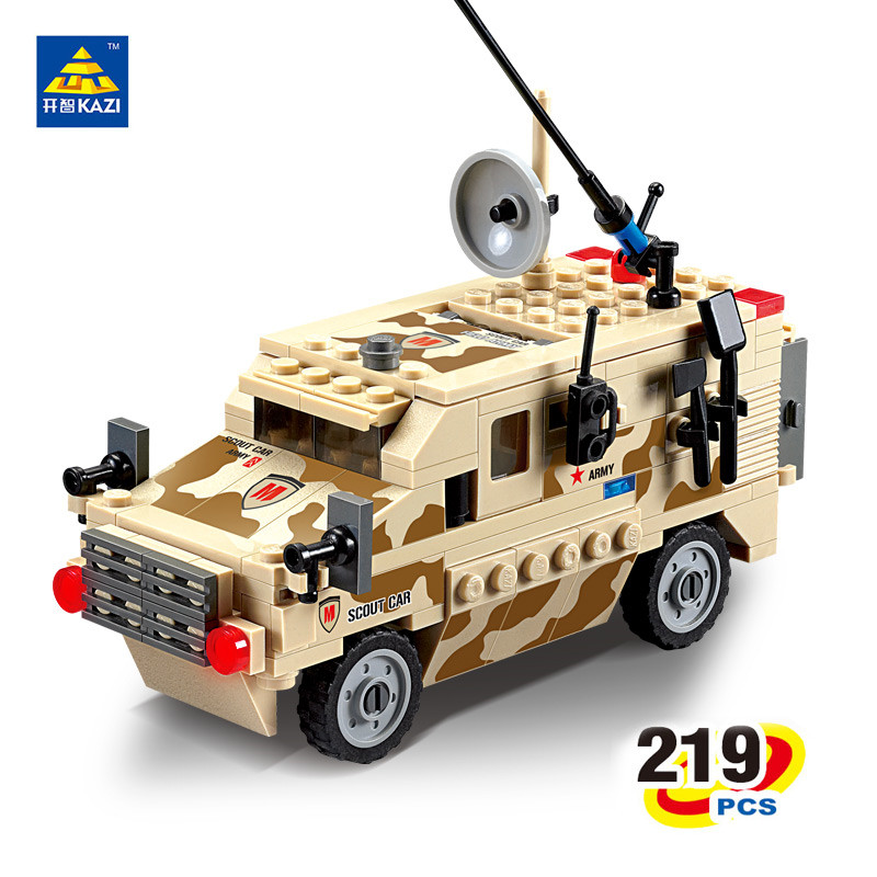 KAZI Century Military USA Half Track Scout Car Building Block playmobil Brinquedos Airborne Troop figure Brick Toys Xmas Gifts