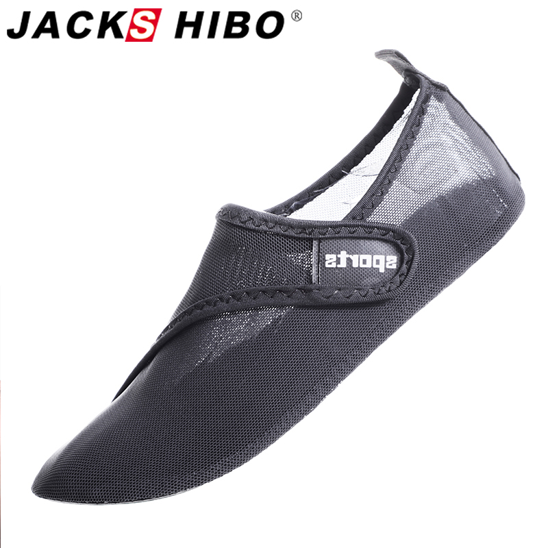 JACKSHIBO Water Shoes Sneakers For Men Male Summer Swimming Beach Shoes Breathable Barefoot Shoes Unisex Surfing Upstream Shoes