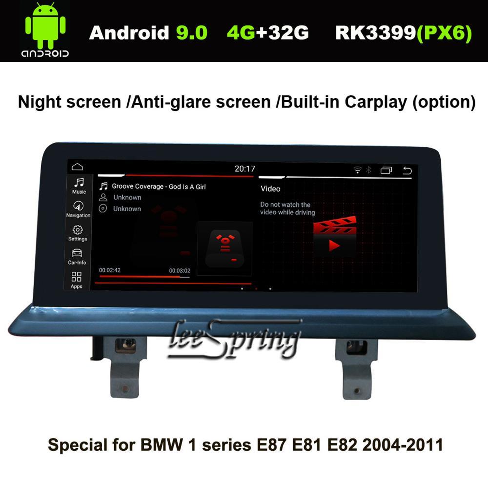 10.25 pouces IPS écran Android 9.0 voiture GPS Navigation pour BMW 1 série E87 E88 E81 E82 2004-2011 voiture lecteur multimédia