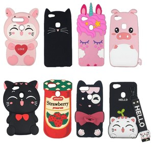 For OPPO A37 A57 A59 A71 A73 A75 A77 A79 A83 3D Cartoon Beard cat Unicorn Soft silicone Phone Cover Case For OPPO A7 A5 F5 F7 F9(China)
