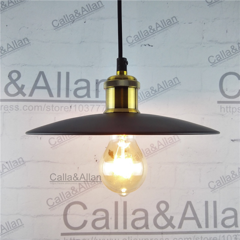 Black/white iron finished lampshade pendant light E27 AC110V/220V industrial edison lighting with ceiling mount and wire edison chandelier vintage d220mm e27 black finished iron shade industrial pendant lamp ac110 240v with brass finished socket