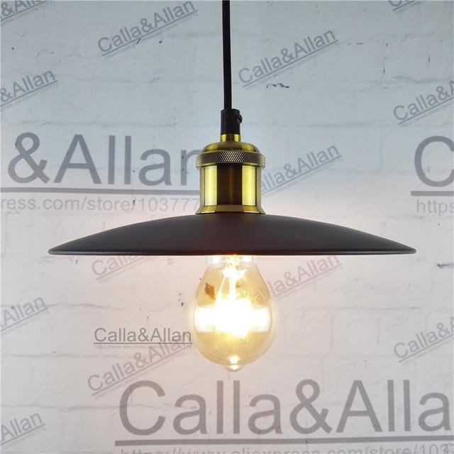 Schwarz/weiß eisen fertige lampenschirm pendelleuchte E27 AC110V/220 ...