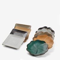 1PCSRetro ceramics Coasters Drinks Table Cup Mat Heat Resistant Mat Pot Holder flower leaves shape Coffee tea Coaster Tableware