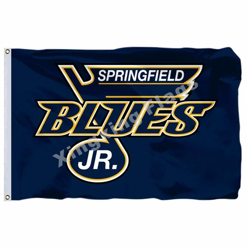 Springfield Junior Blues Flag 3ft X 5ft Polyester U S Junior Hockey