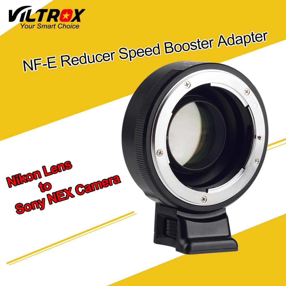 цена на Viltrox Focal Reducer Speed Booster Lens Adapter Turbo w/ Aperture Ring for Nikon F Lens to Sony A7 A7R A7S A6300 A6000 NEX-7